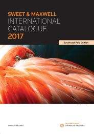 Sweet & Maxwell - 2017 International Catalogue (Southeast Asia Edition)