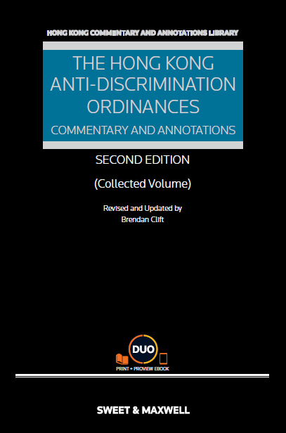 Online bookstore hong kong the hong kong anti discrimination ordinances commentary annotations collected volume second edition fandeluxe