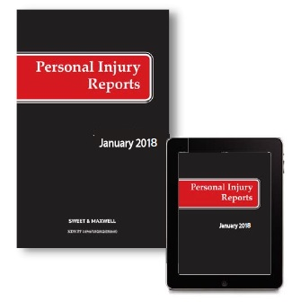 Personal Injury Reports 2018 Subscription (PIR)