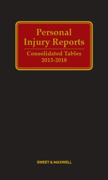Personal Injury Reports Consolidated Tables 2013-2018