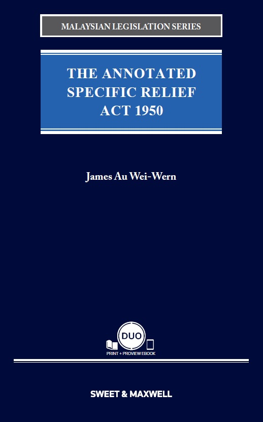 The Annotated Specific Relief Act 1950 (OUT NOW)